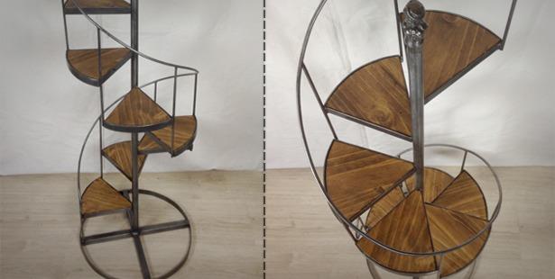 Cr ation d 39 un petit escalier en colima on retro factory cr ations aut - Petit escalier colimacon ...