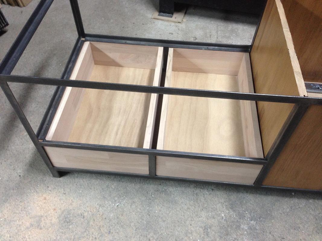 cr ation d 39 une table basse s r mesure retro factory. Black Bedroom Furniture Sets. Home Design Ideas