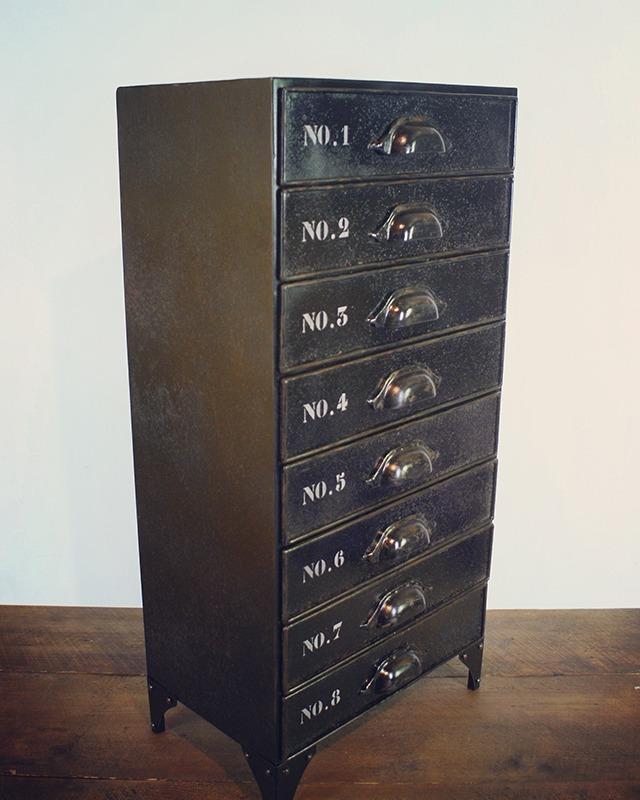 meuble metallique tiroirs 014 retro factory cr ations autour de l 39 univers industriel r tro. Black Bedroom Furniture Sets. Home Design Ideas